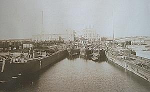 Historische Aufnahme des Friedrich-Wilhelm-Kanals