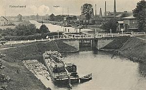 Historische Aufnahme der Schleuse des Friedrich-Wilhelm-Kanals